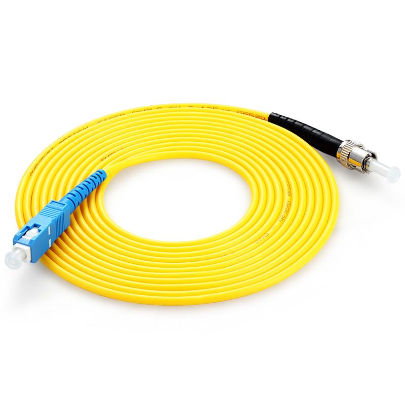 胜为(shengwei) FTCA-1100 工程电信级光纤跳线 ST(UPC)-SC(UPC)单模单芯 10米 收发器尾纤 网络光纤线