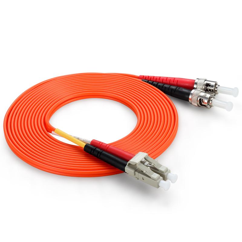 胜为(shengwei) FTLB-1100 工程电信级光纤跳线 ST(UPC)-LC(UPC)多模双芯 10米 收发器尾纤 网络光纤线