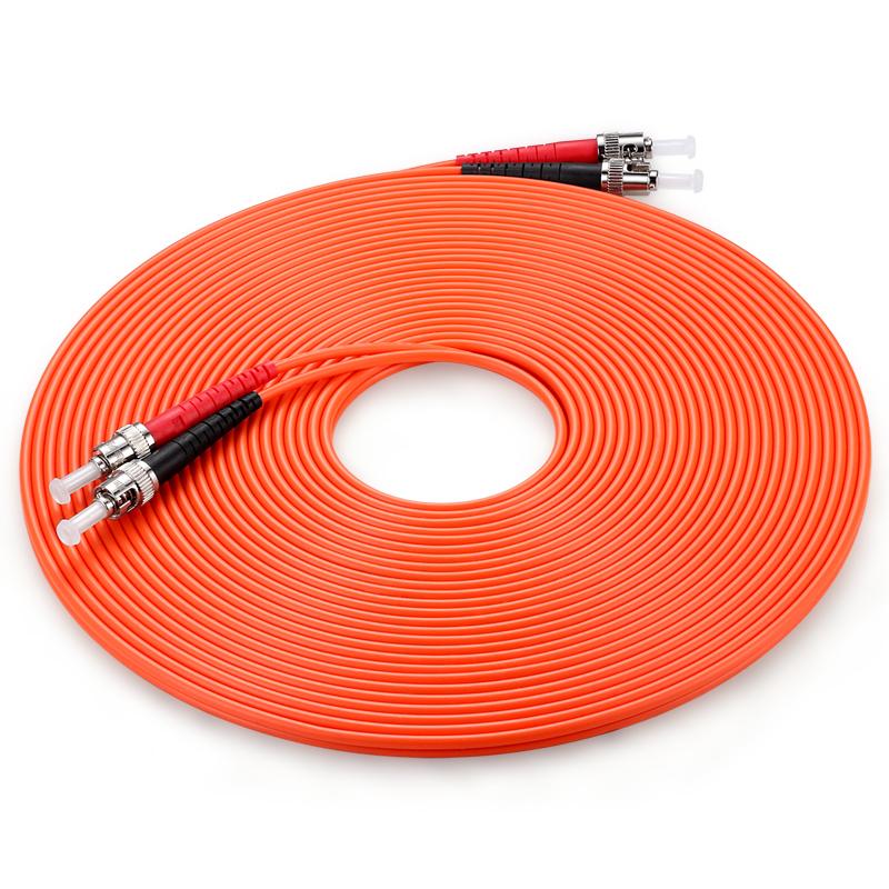 胜为(shengwei) FTTB-1100 工程电信级光纤跳线 ST(UPC)-ST(UPC)多模双芯 10米 收发器尾纤 网络光纤线