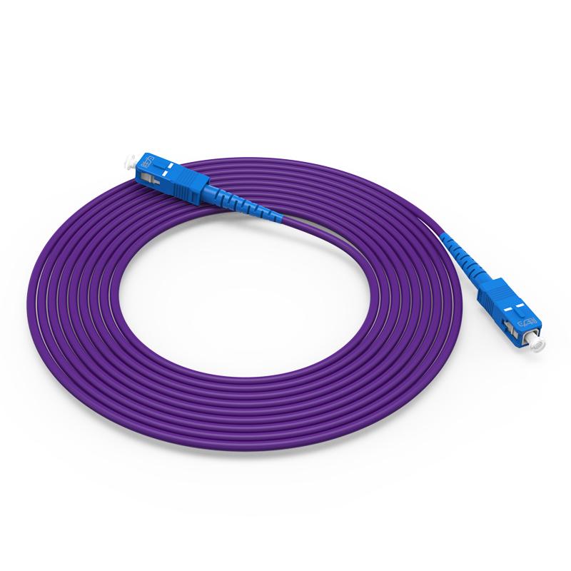 胜为 铠装光纤跳线SC-SC电信级单模单芯3/5/10米m 紫色
