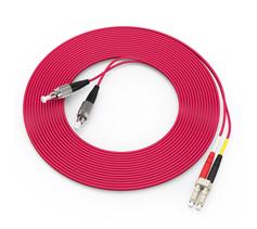 胜为(shengwei)电信级铠装光纤跳线 LC-FC多模双芯3/5/10米  FMCK-3030/3050/3100