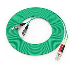 胜为(shengwei)电信级万兆铠装光纤跳线 LC-FC多模双芯3/5/10米 OM3室内 FOCK-3030/3050/3100