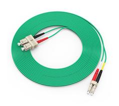 胜为(shengwei)电信级万兆铠装光纤跳线 LC-SC多模双芯3/5/10米 OM3室内抗拉尾纤缆 FOCK-/2030/2050/2100