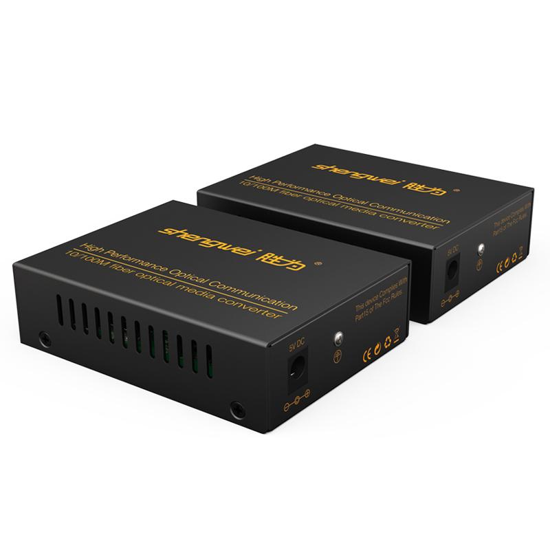 胜为 FC-311AB 百兆自适应网络监控SC接口一对光纤收发器