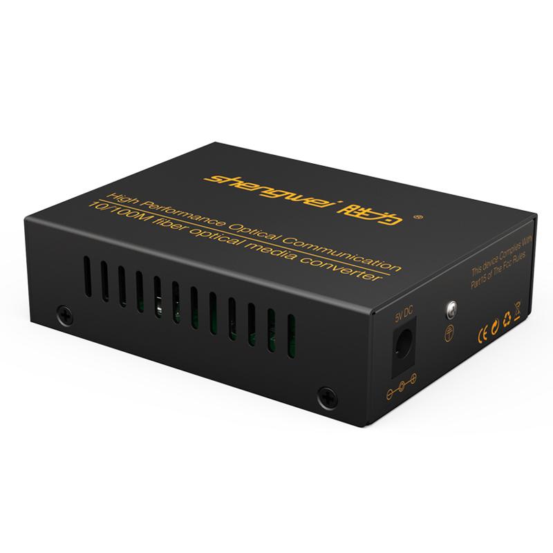 胜为FC-512 工程级光纤收发器 10/100百兆自适应单模双纤