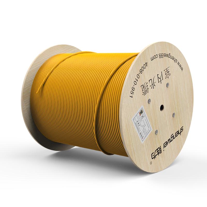 胜为 8芯单模室内光纤光缆 9/125 GJFJV/GJFJH 100米束状软光缆