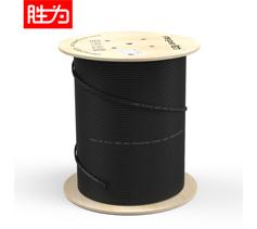 胜为 室外单模双芯黑色蝶形皮线光缆100米