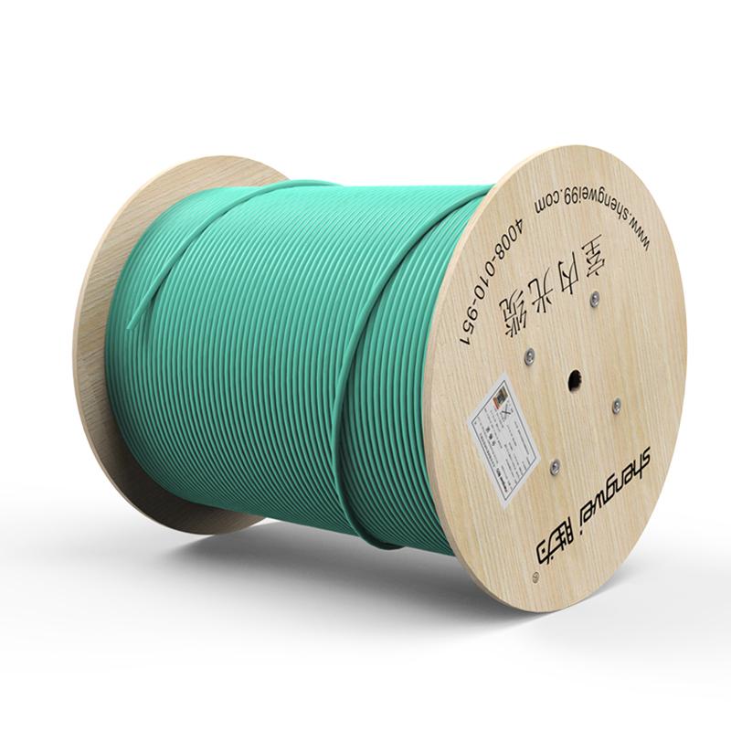 胜为12芯万兆多模室内光纤光缆 OM3-300 GJFJV/GJFJH 100米束状软光缆