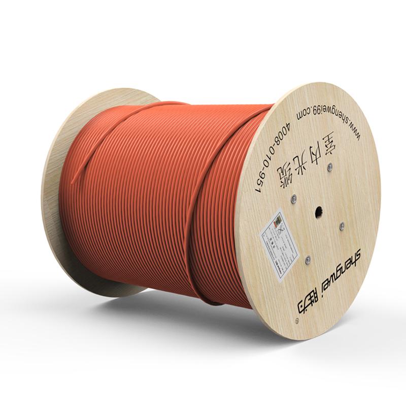 胜为4芯万兆多模室内光纤光缆 OM3-150 GJFJV/GJFJH 100米束状软光缆