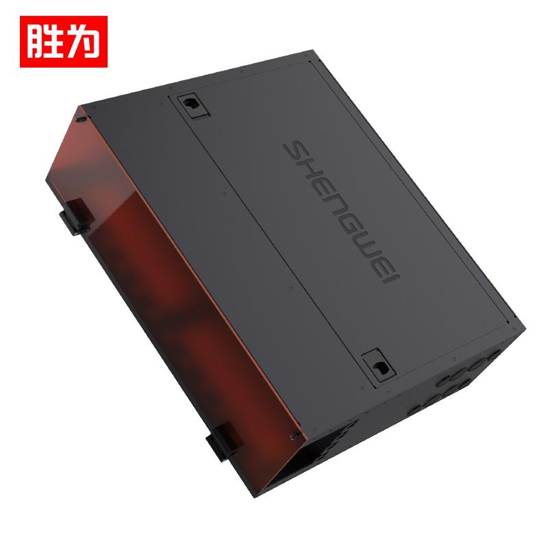 胜为(shengwei) MDF-103U  MPO光纤配线箱 高密度3U单模多模配线架 模块化光纤终端盒续接盘熔接/预端接分线箱