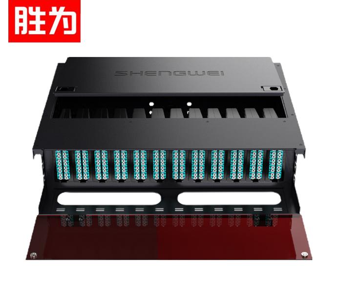 胜为 MDF-10MO-288L  MPO光纤配线箱 288芯LC多模满配 万兆OM3高密度模块化终端盒预端接分线配线架