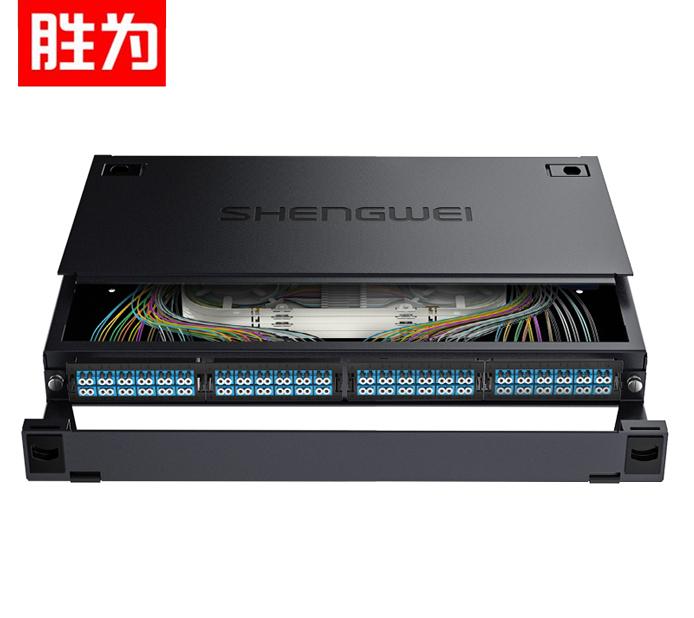 胜为 MDF-101S-96L MPO-MTP光纤配线箱 96芯LC单模满配 高密度模块化光纤续接盘配线架熔接分线箱