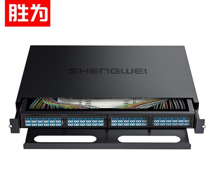 胜为 MDF-201S-96L  MPO-MTP光纤配线箱 96芯LC单模满配 高密度模块化光纤续接盘配线架熔接分线箱