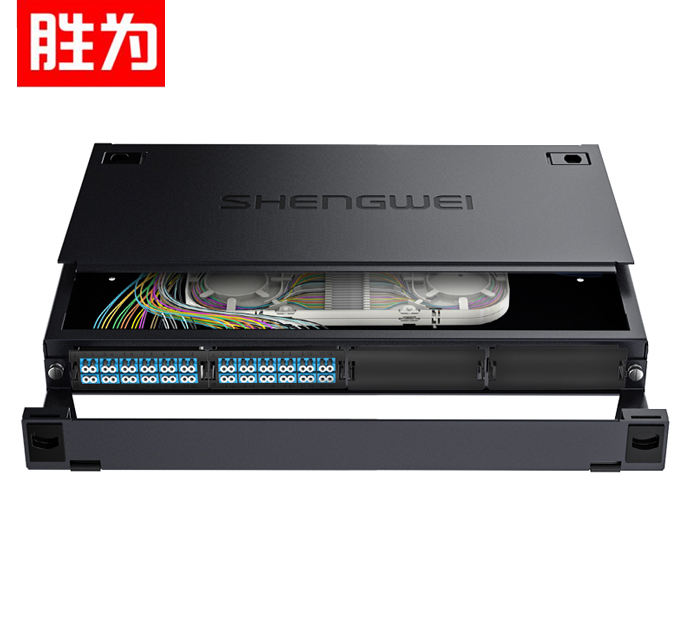 胜为 MDF-101S-48L MPO-MTP光纤配线箱 72芯LC单模满配 高密度模块化光纤续接盘配线架熔接分线箱