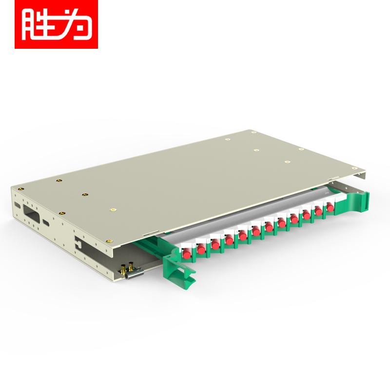 12芯FC多模万兆OM3满配19英寸机架式1.2mm冷轧板ODF光纤配线架