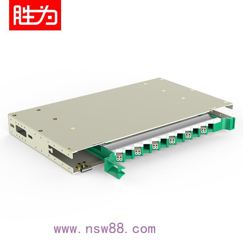 12芯LC多模满配标准19英寸抽拉机架式ODF光纤配线架