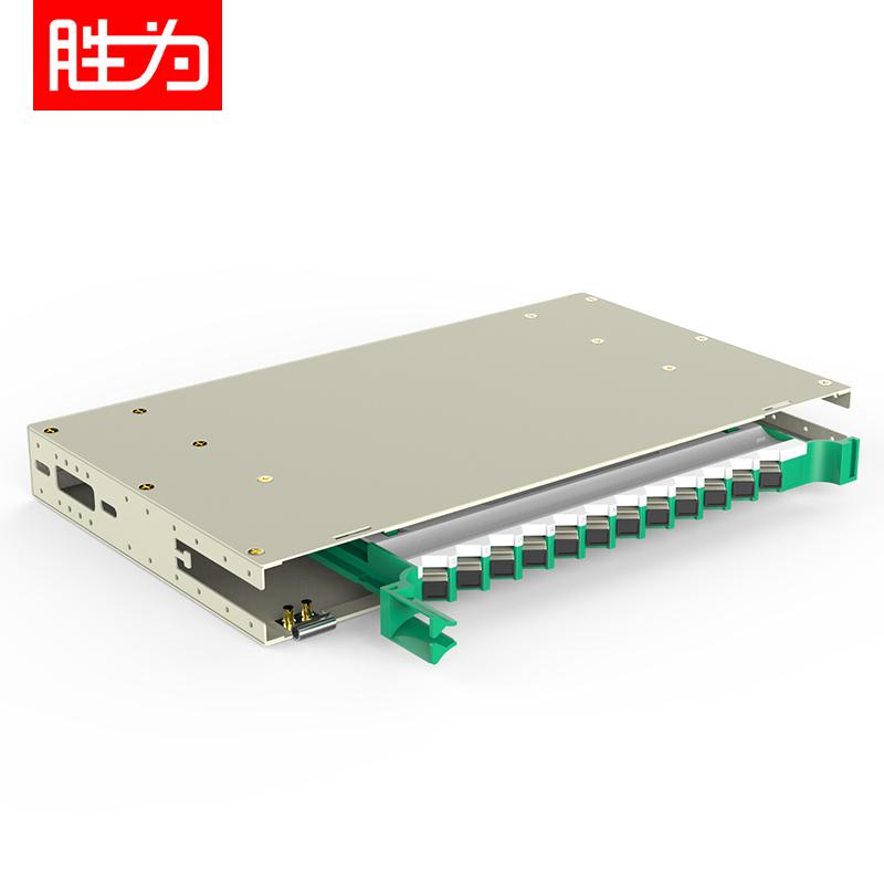 12芯SC多模满配 标准19英寸抽拉机架式1.2mm冷轧板ODF光纤配线架