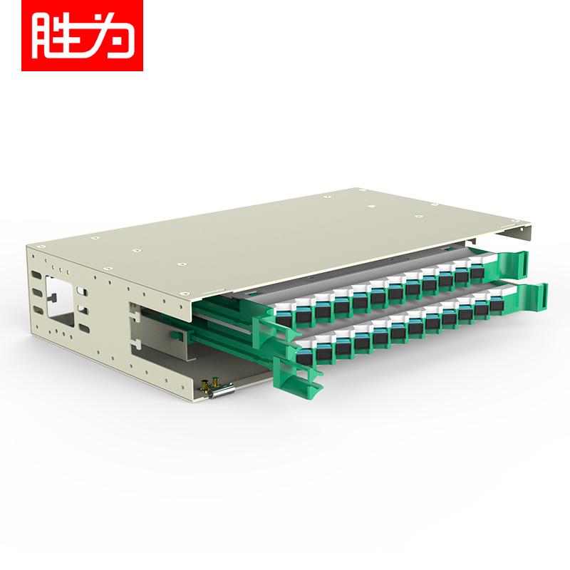 24芯SC多模万兆OM3满配19英寸机架式ODF光纤配线架