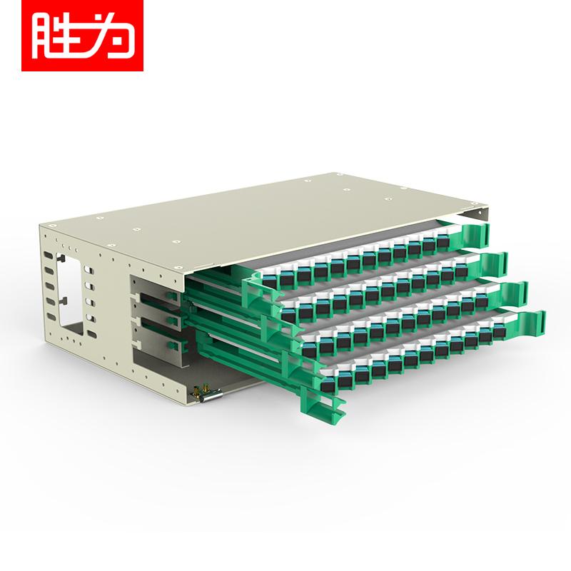 48芯SC多模万兆OM3满配19英寸机架式ODF光纤配线架