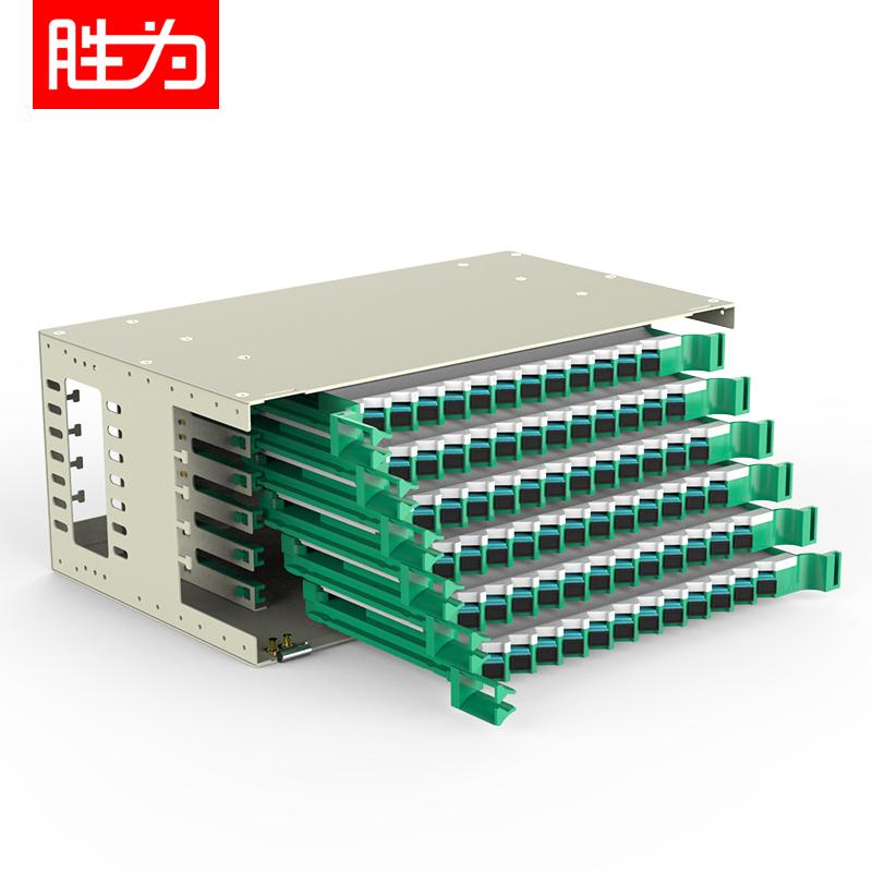 72芯SC多模万兆OM3满配19英寸机架式ODF光纤配线架