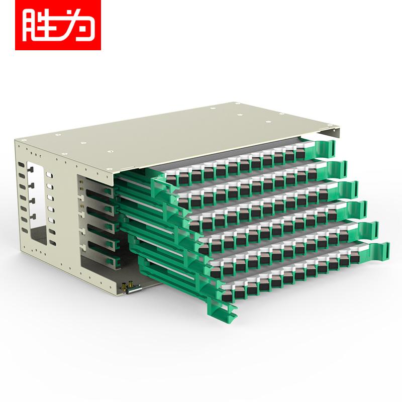 72芯SC多模满配标准19英寸机架式ODF光纤配线架