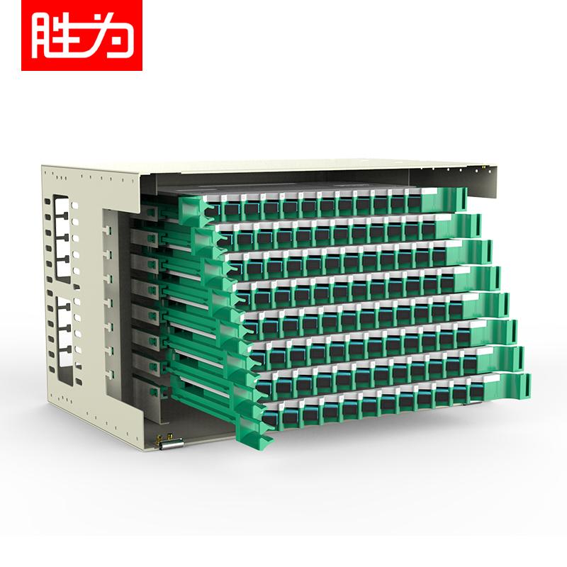 96芯SC多模万兆OM3满配19英寸机架式ODF光纤配线架