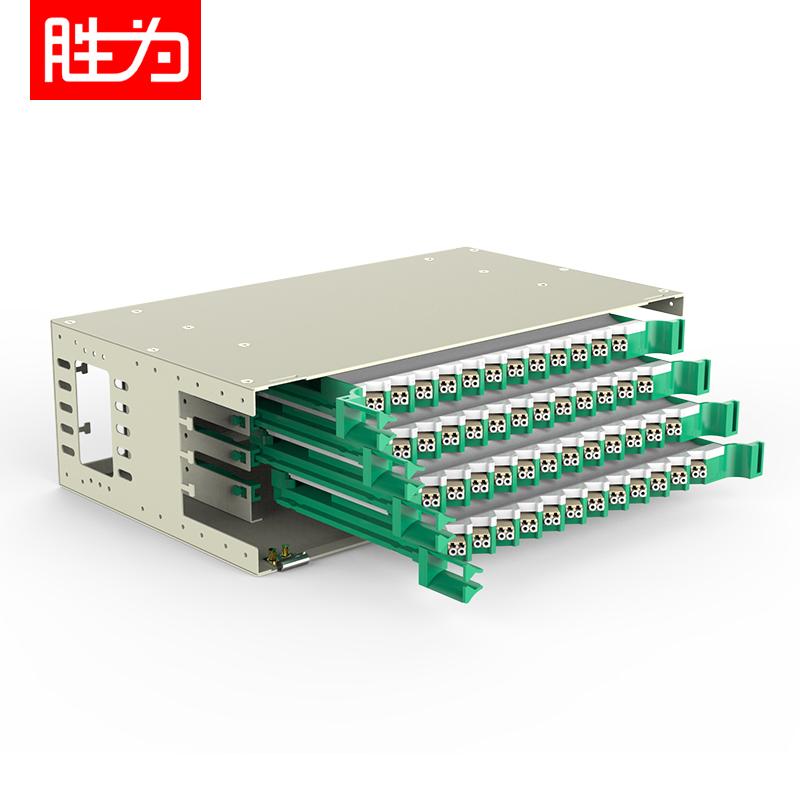 96芯LC多模满配ODF光纤配线架标准19英寸机架式1.2mm冷轧板