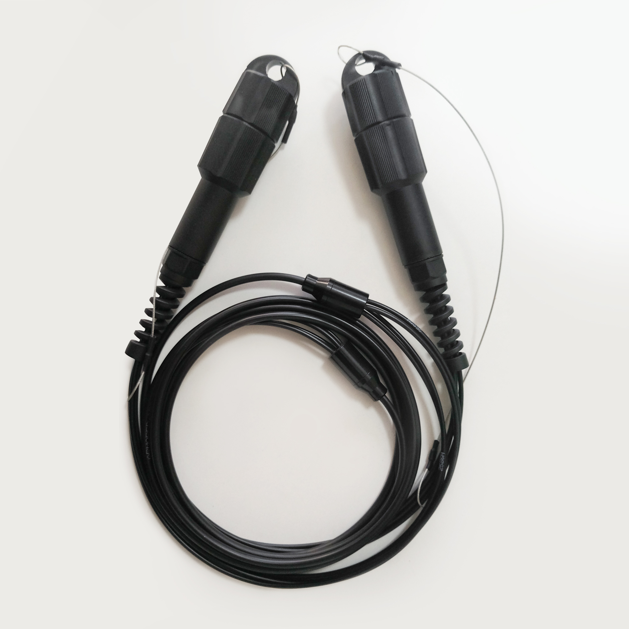 胜为室外野战铠装防水LC-LC单模/多模四芯光缆TPU外被(带防水接头) 3米