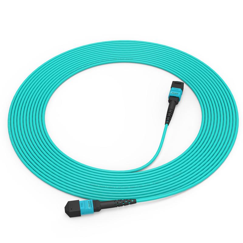 胜为光纤跳线MPO-MPO母头8芯 多模OM4万兆40G光模块集束MPO光纤跳线
