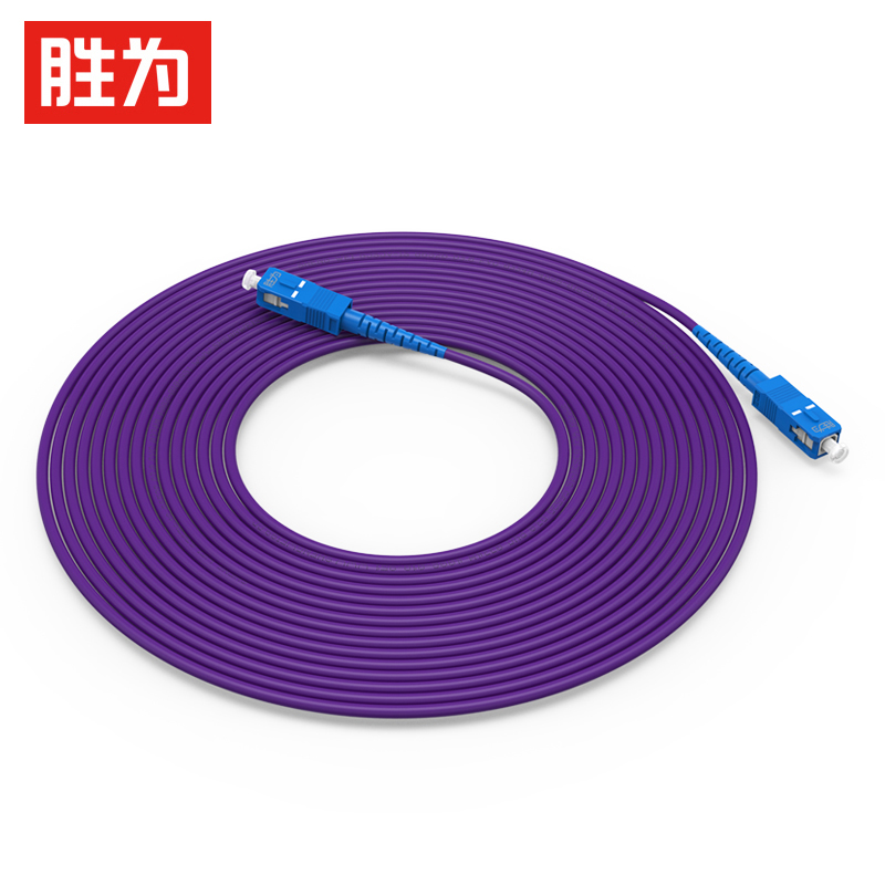 胜为铠装光纤跳线SC-SC单模单芯防鼠咬室内抗拉尾纤缆