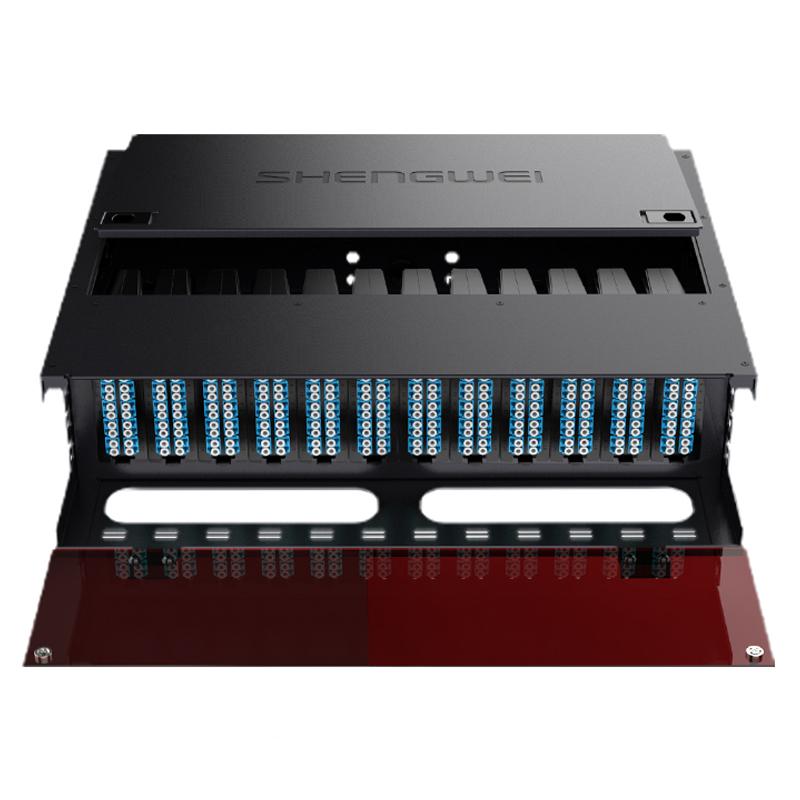 预端接型288芯LC单模满配 高密度模块化光纤终端盒MPO预端接光纤配线架