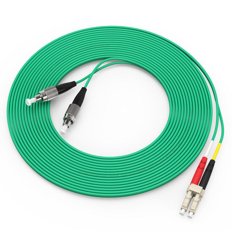万兆铠装光纤跳线 LC-FC多模双芯5米 OM3室内抗拉尾纤缆