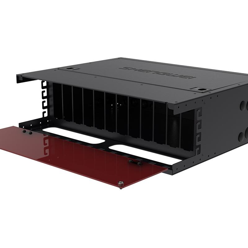MPO光纤配线箱 一体式空箱3U单模多模预端接光纤配线架