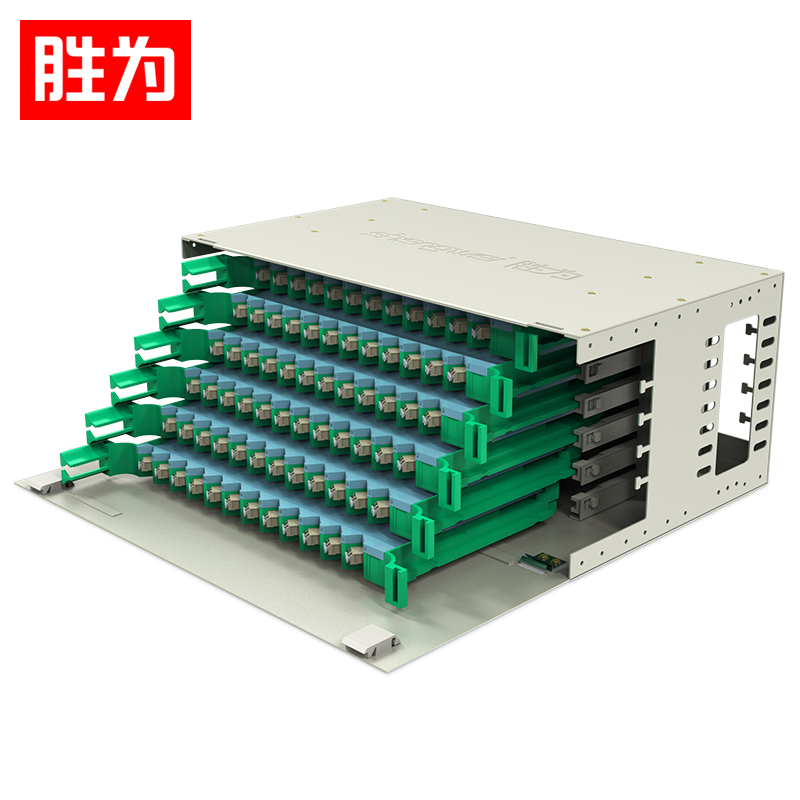 胜为 ODF-1144L-M 144芯ODF光纤配线架LC多模满配 标准19英寸机架式1.2mm冷轧板
