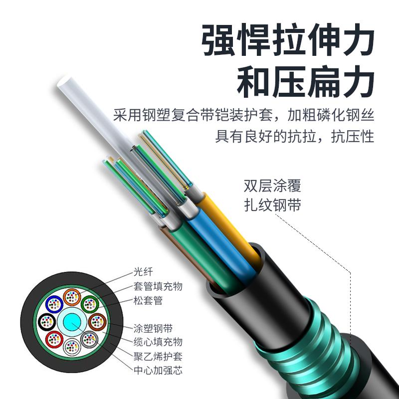 GYTA/S层绞式室外铠装光缆 4/6/8/12/24/48/72/96/144芯单模架空/管道/地埋光缆
