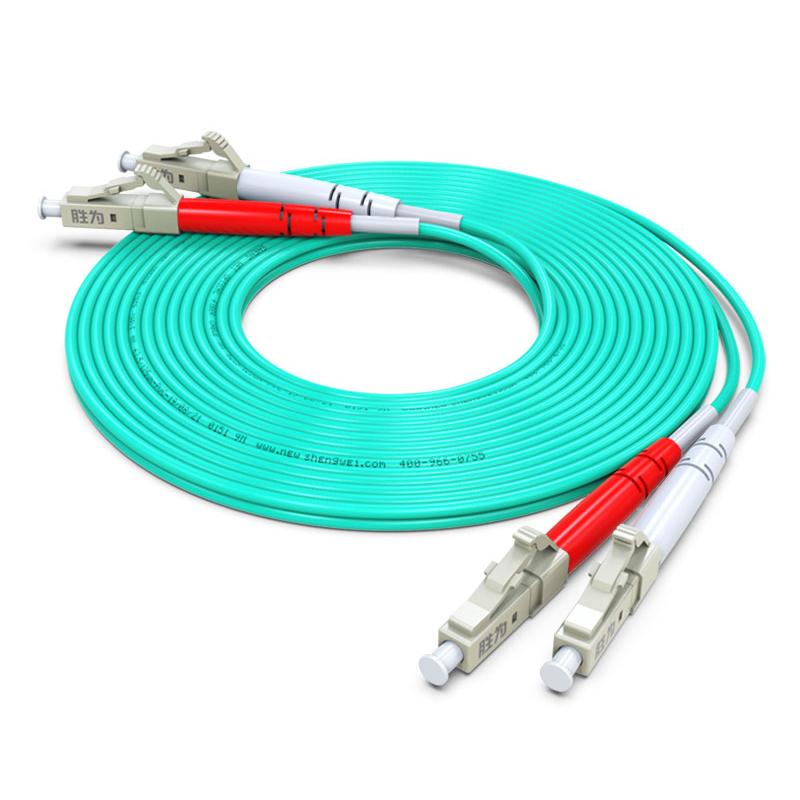 胜为FOC-1030多模万兆光纤跳线LC-LC OM3双芯3米 50/125收发器尾纤