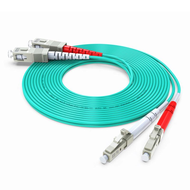 胜为FOC-2030电信级光纤跳线LC-SC 50/125 OM3多模双芯3米尾纤